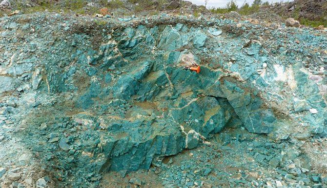Карьер по добыче минерала
