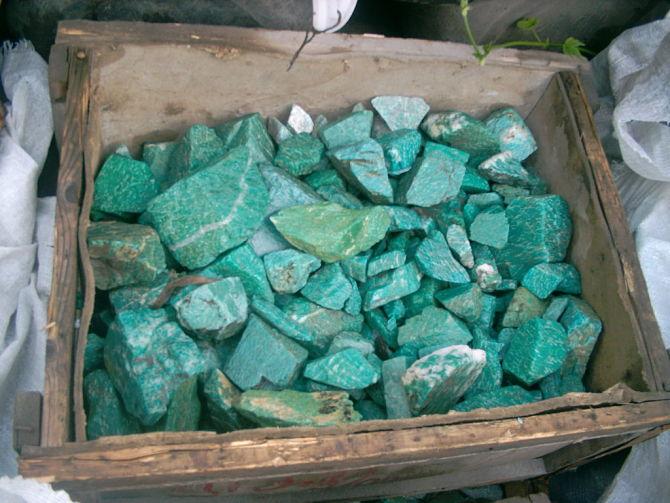 Добытые камни