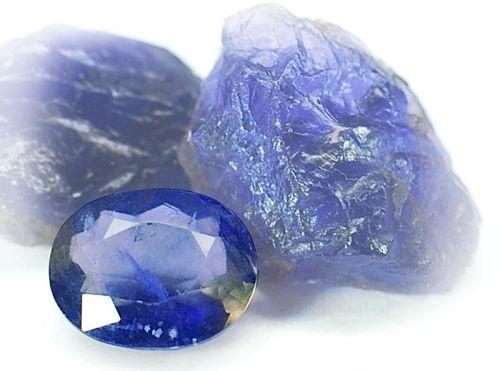Голубоватые минералы