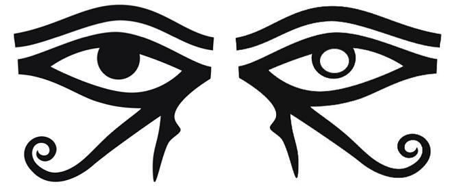 Левый и правый глаз Гора