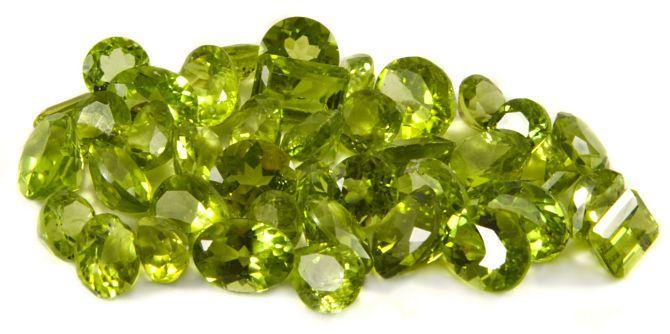 Салатовые минералы