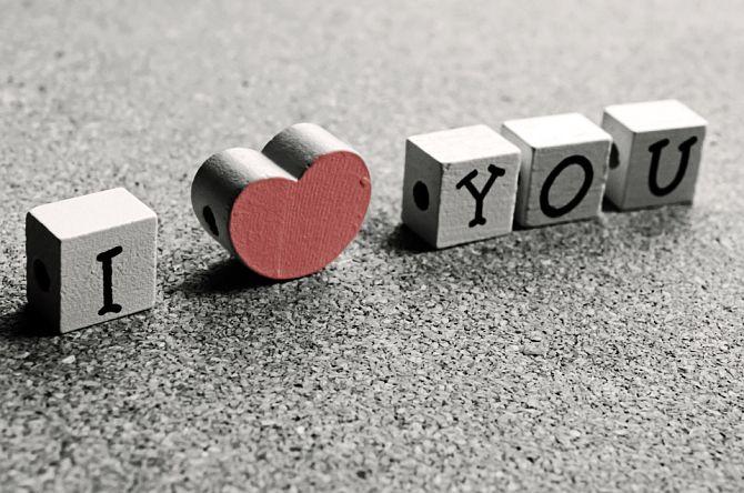 Табличка я люблю тебя