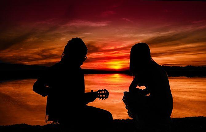 Романтический вечер на закате