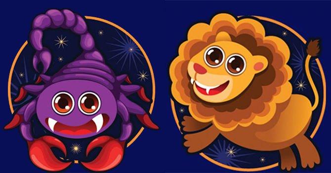 Скорпион и лев