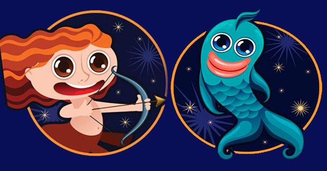 Стрелец и рыбы