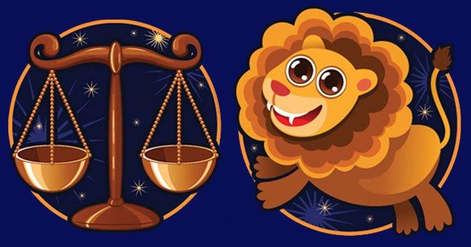 Весы и Лев