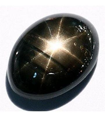 Черный звездчатый сапфир