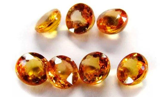 Оранжевые камни