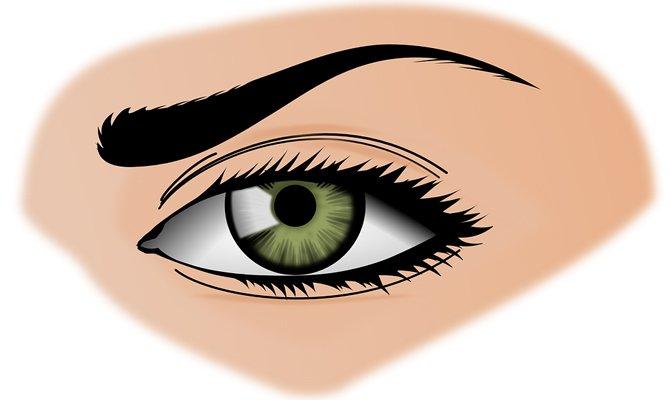 Правый глаз