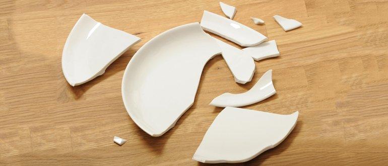 Осколки от тарелки