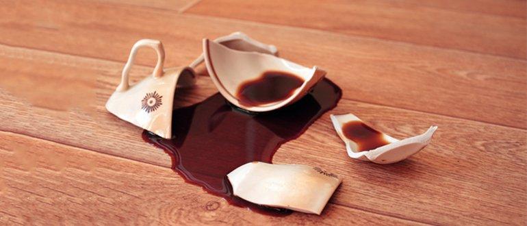 разбилась чашка