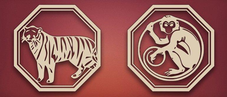 Тигр и обезьяна