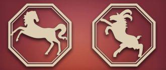 лошадь и коза