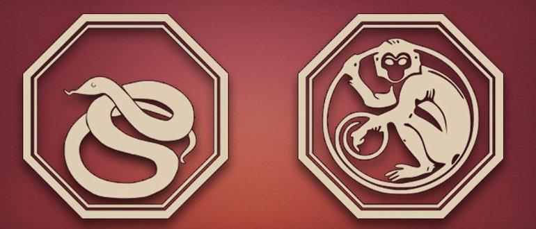 змея и обезьяна