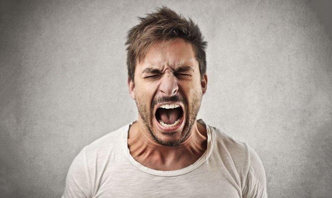 В гневе